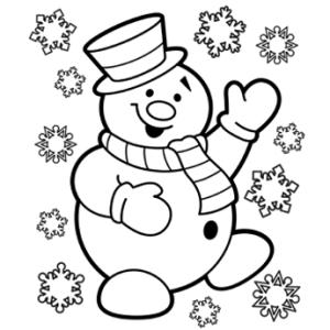 Nasmejan snežak