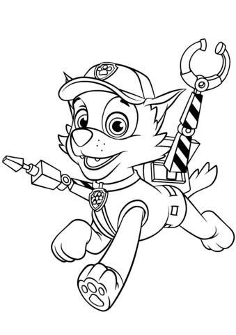 paw patrol - pobarvanke za otroke