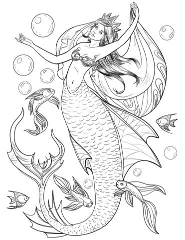 Zeemeermin Mako Mermaids Kleurplaat 010 Pobarvanke