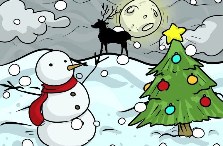 Draw-a-Christmas-Landscape-Step-12